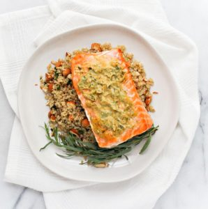 Roasted Mustard Salmon